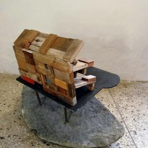 Aquiles Segovia | Canódromo | 2013 | Ensamblaje de madera | 27 x 38 x 17 cm
