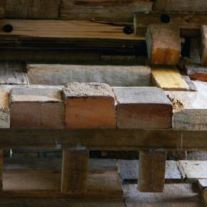 Aquiles Segovia | Canódromo | 2013 | Ensamblaje de madera | Detalle