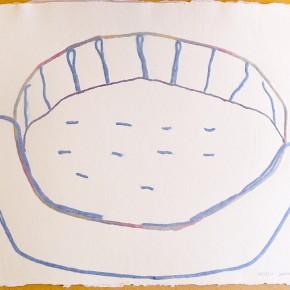 Shapono (Comunidad) | 2012 | Papel hecho a mano, pulpa pigmentada e hilo de algodón | 59 x 44,5cm