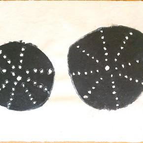 Tigre Wapu Soto (Frutos en la cesta) | 2012 (Chicago) | Papel hecho a mano y pulpa pigmentada | 35 x 50 cm