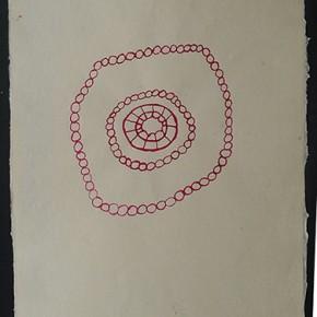 Motoremariwe (Juego de lanzar) | 2012 | Dibujo en acuarela sobre papel | 45 x 30 cm