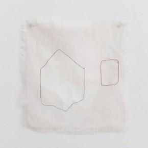 Perspectiva Triángulo | 2012 | Hilos entretejidos sobre lino | 28,8 x 30 cm