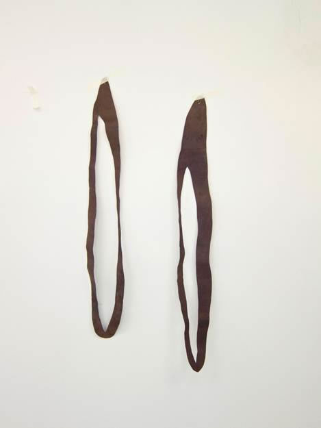 Cortes Marrón | 2012 | Fieltro teñido | 95x12,7 ; 13x99 cm