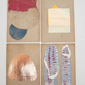 Sin título Cuatro | 2012 | Materiales diversos sobre cartón | 28,5 x 19,5 (x4) cm