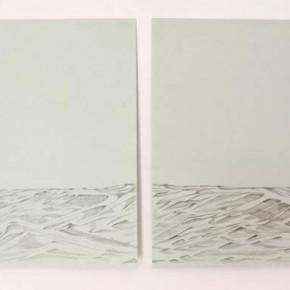 Horizonte | 2012 | Dibujo a grafito sobre papel Bristol | 21, 5cm x 28 cm; y 21, 5cm x 28 cm