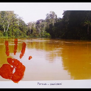 Parawa-Shanishani (Orinoco- y caño Shanishani) | 2012-2013 | Fotografía intervenida con acrílico | Serie de 3 | 48 x 32 cm