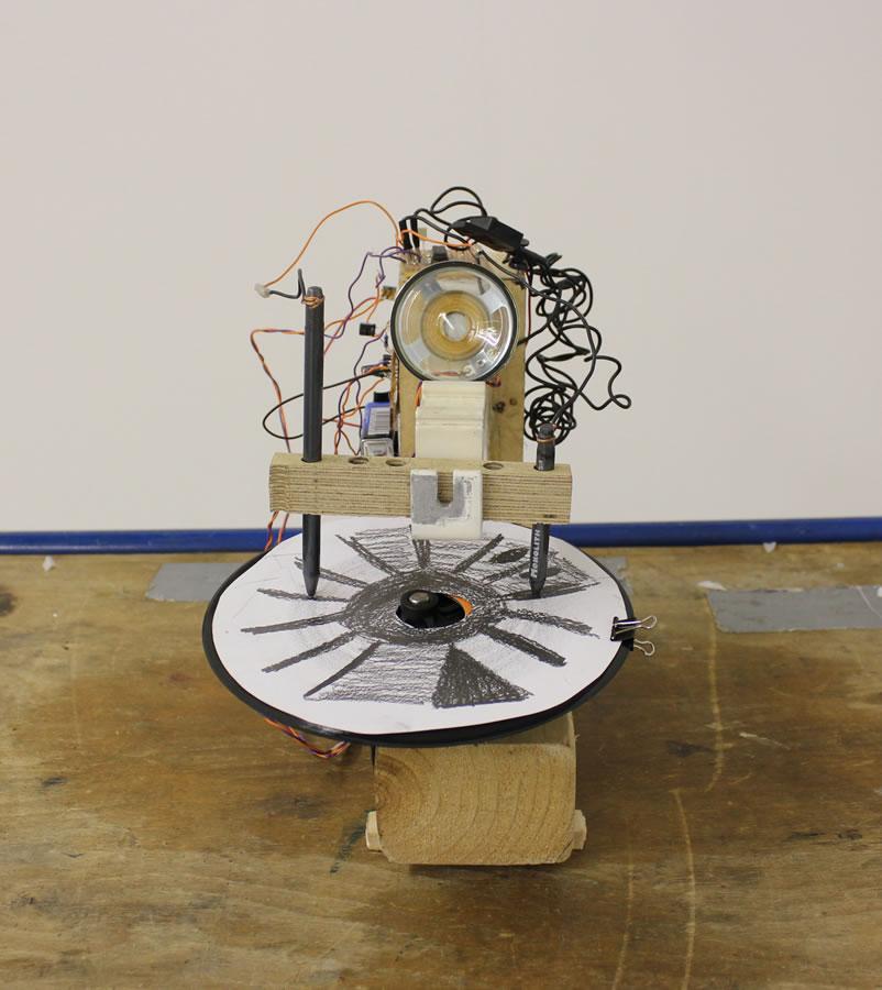 Serie: Máquina para grafitos   2011-2013   Instalación y performance