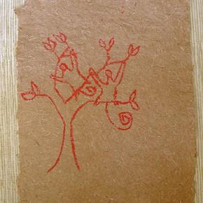 Pasho-Hii (Monos Marimonda) | 28 x 21 cm | Acrílico sobre papel artesanal realizado con la fibra Ara Puri Usi