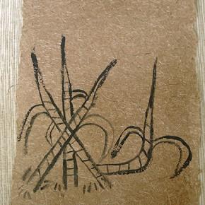 Puu Usi (Fibra de caña de azúcar) | 28 x 21 cm | Acrílico sobre papel artesanal realizado con la fibra Ara Puri Usi