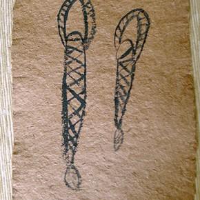Horopi (Sebucán) | 28 x 21 cm Acrílico sobre papel artesanal realizado con la fibra Ara Puri Usi