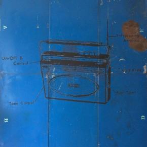 Carlos Anzola | Bandas | 2012 | Esmalte sobre metal | 184 x 151 cm