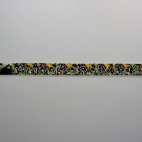 Braulio Fernández. Dinamación | 2013 | Óleo sobre tela | 528 x 13 cm (24 pzas de 22 x 13 cm)