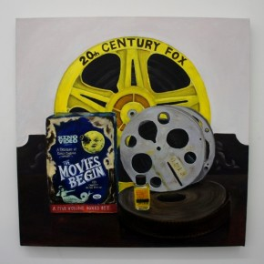 Serie Objetos Inertes | 2013 | El viaje a la luna (50 x 50 cm) | Óleo sobre tela