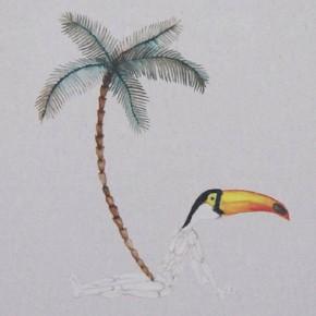 Akira Ikezoe, Untitled 80, 2013 óleo sobre tela, 43x35 cm.