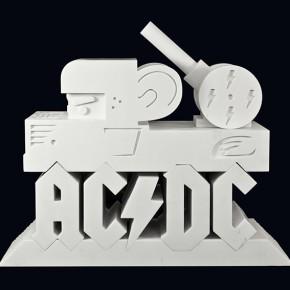 "AC/DC 40th Anniversary ""Hard as a Rock"" | 2013 | 70 x 100 x 40 cm / 27.5 x 39.3 x 15.7 pulgadas | Colaboración con Factum Art | Mármol de carrara | Edición del 40 aniversario de AC/DC"
