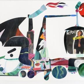 Sir Truck Navistar Inc | 2013 | Óleo, senok y escarcha sobre papel | 103 x 153 cm / 40.5 x 60.2 pulgadas