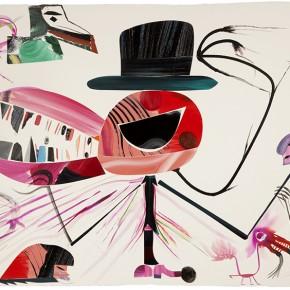 Pettricca | 2012 | Óleo, senok y escarcha sobre papel | 103 x 153 cm / 40.5 x 60.2 pulgadas