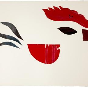 Sir Barry | 2012 | Óleo, senok y escarcha sobre papel | 103 x 153 cm / 40.5 x 60.2 pulgadas