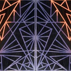 Luis Romero | Universo | 2011 | Xilografía y colografía sobre papel de algodón | 200 x 140 cm