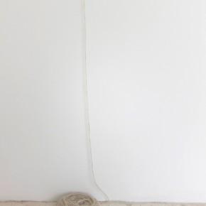 Suwon Lee & Luis Romero | La delgada línea (Detalle) | 2013 | Lana de oveja Islandesa | Medidas variables