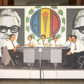 Claudio Perna (1938-1997) | Serie: Partidos políticos y personajes de la América Latina (1979) | Óleo sobre tela | Galería de Arte Nacional, Caracas