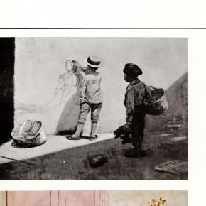 Federico Brandt (1878 - 1932) | Muchacho pintando a Cipriano Castro en la pared (1906) | Óleo sobre tela | Colección privada Sr. Henrique Toledo Guerrero y Sra.