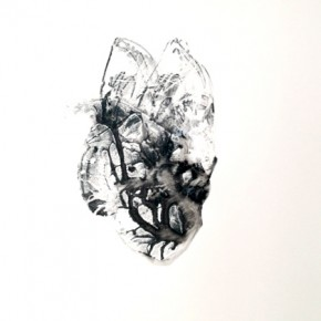 1. Lepidoptero-Palometa I | 2013 | Tintas de pigmento y agua sobre papel | 75 x 55 cm |