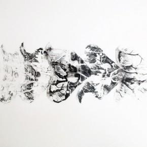 3. Lepidopteros. Attacus | 2013 | Tintas de pigmento y agua sobre papel | 55 x 75 cm