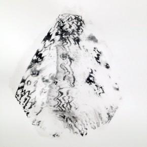 6. Serie Lepidópteros. Bruja Blanca I | 2013 | Tintas de pigmento y agua sobre papel | 55 x 37 cm