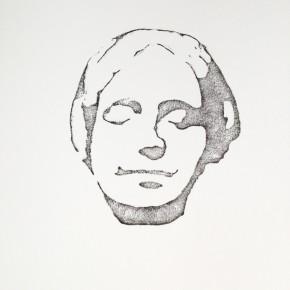 De la Desconocida del Sena y otras Ofelias - I | 2013 | Monotipo sobre papel | 42 x 30 cm