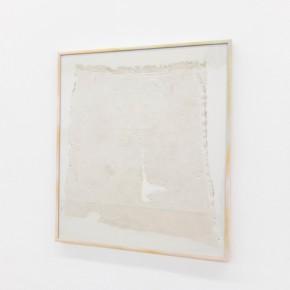 24. Rag #1 | 2013 | Yeso, tela, vidrio, aluminio y pintura en aerosol | 43,5 x 38,5 x 2 cm