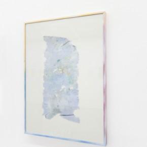 28. Rag #5 | 2013 | Yeso, tela, pintura en acrílico, vidrio, aluminio y pintura en aerosol | 48,6 x 36 x 2 cm