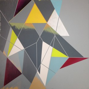 3. Floris Finito | 2013 | Acrílico y gouache sobre tinta serigráfica | 64 x 64 cm papel (72 x 72 cm con marco)