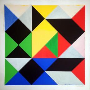 7. Bill und Ich II | 2013 | Acrílico y gouache sobre tinta serigráfica | 67 x 67 cm papel (75 x 75 cm con marco)