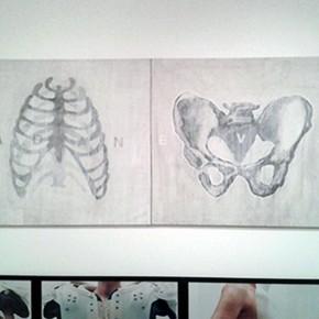 Luis Romero | Adán y Eva | 1998 | Acrílico sobre tela | 140,9 x 140,9 cm