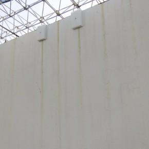 Ensayo de dominio |Truco Exterior | 2013 | Intervención en el espacio | Esponjas, clavos.