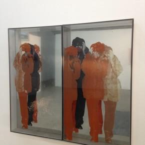 Ana María Mazzei | Progresión real virtual | 1972 | Serigrafía sobre acrílico y espejo | 2 piezas | 124 x 69,5 x 12 cm c/u