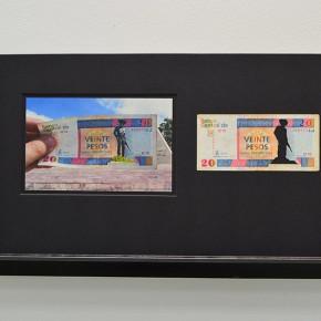 Calados capitales en lugares de paso | 20 CUC. Serie #1 Cuba | 2012-2013 | Fotografia sobre papel moneda y billetes (dinero) | 45 x 25 cm
