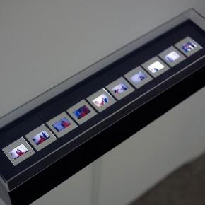 Vista en sala | Diego Barboza | Registro de la acción | Sala Mendoza, 1981 |10 diapositivas