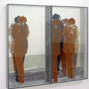 Vista en sala | Ana María Mazzei |Progresión real virtual | 1972 | Serigrafía sobre acrílico y espejo | 2 piezas | 124 x 69,5 x 12 cm c/u