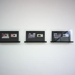 Vista en sala | Serie: Calados capitales en lugares de paso # 3 | Fotografía sobre papel de moneda y billetes | 25 x 45 cm