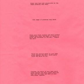 Bruce Nauman | Body Pressure | 1974 | Pieza de performance | Cartel originalmente gratuito | 63 x 41,5 cm