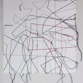 Cartografías imaginarias 10/13.11 | 2013 | Dibujo costura | 38 x 28 cm
