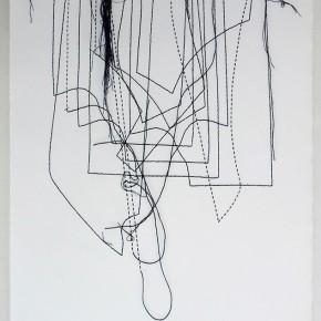 Cartografías imaginarias 17/13.12 | 2013 | Dibujo costura | 38 x 28 cm