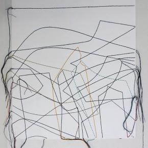 Cartografías imaginarias 12/14.2 | 2014 | Dibujo costura | 38 x 28 cm