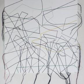 Cartografías imaginarias 22/13.11 | 2013 | Dibujo costura | 38 x 28 cm