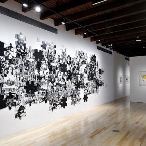 Regina Silveira | To be continued...(Latin American Puzzle) | 1997 | Vista de exposición en Museo Amparo | Fotografía: Carlos Varillas