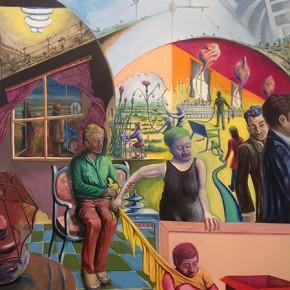 3. El origen del espejo (hombre en cama) | 2014 | Óleo sobre tela | 200 x 150 cm
