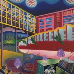 4. El nacimiento de las instalaciones | 2013 | Óleo sobre tela | 130 x 65 cm