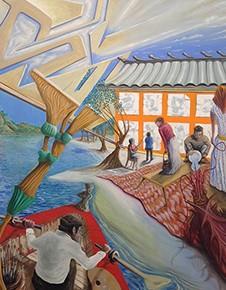 5. Los abxtrastos (bote) | 2014 | Óleo sobre tela | 170 x 120 cm